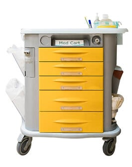 medical cart_yellow drawers_silo